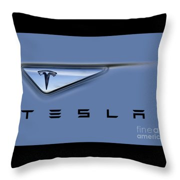 Tesla Model S Throw Pillow
