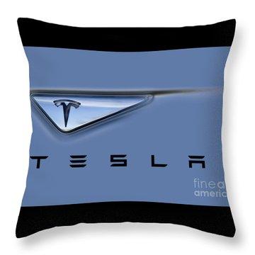Throw Pillow featuring the photograph Tesla Artwork by David Millenheft