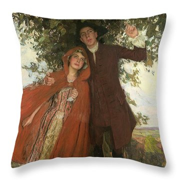 Tess Of The D'urbervilles Or The Elopement Throw Pillow by William Hatherell
