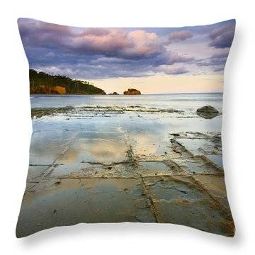 Tesselated Dusk Throw Pillow by Mike  Dawson