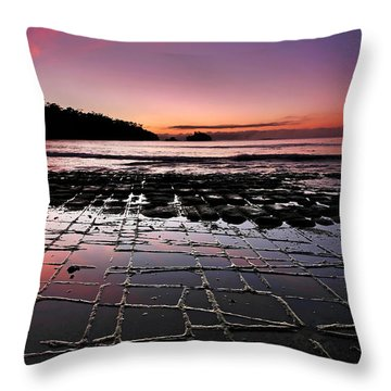 Tesselated Pavement Sunrise Throw Pillow by Bill  Robinson