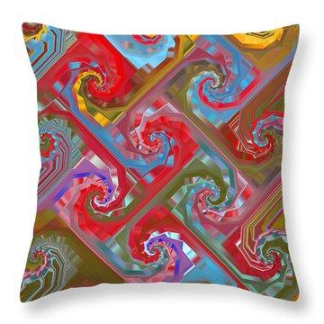Tessellation Throw Pillow by Mariarosa Rockefeller