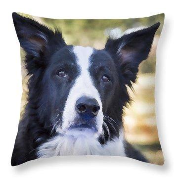 Tessie Good Girl Throw Pillow by Rich Franco
