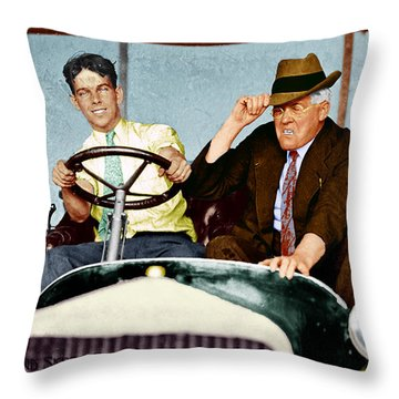 Test Drive Throw Pillow