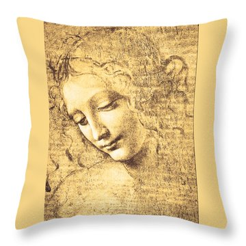 Testa Di Fanciulla Detta La Scapigliata Throw Pillow