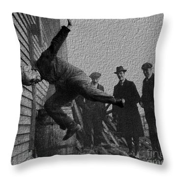 Testing Football Helmets In 1912 Ouchhhhh Throw Pillow