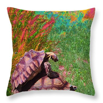 Testudine Passion Tango Throw Pillow