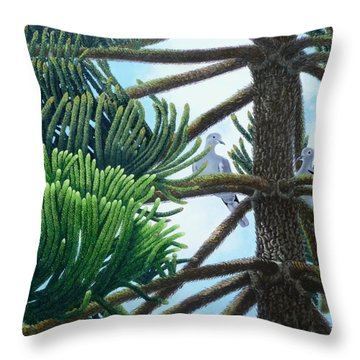 Tete A Tete Throw Pillow by Beverly Theriault