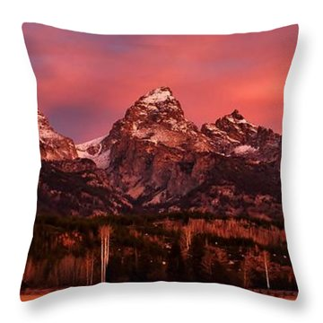 Throw Pillow featuring the photograph Teton Color by Benjamin Yeager