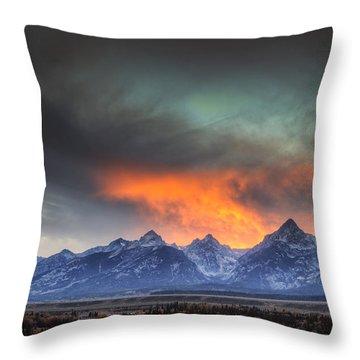 Teton Explosion Throw Pillow