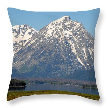 Teton Lake Throw Pillow