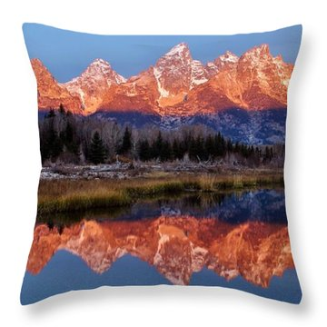 Throw Pillow featuring the photograph Teton Majesty by Benjamin Yeager
