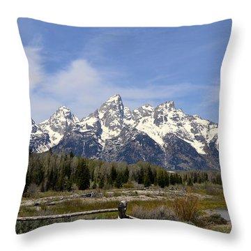 Teton Majesty Throw Pillow