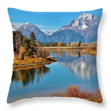 Throw Pillow featuring the photograph Teton Tranquility by Benjamin Yeager