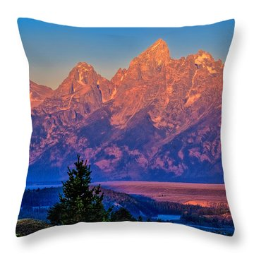 Teton Peaks Throw Pillow