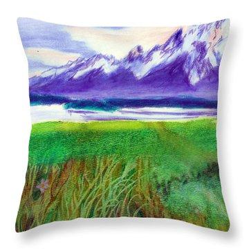 Teton View Throw Pillow