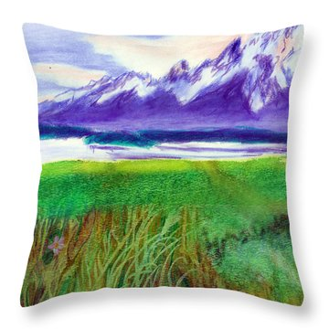 Teton View Throw Pillow