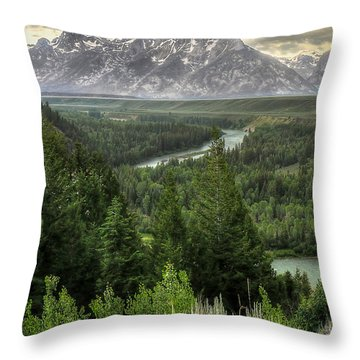 Teton Visions Throw Pillow