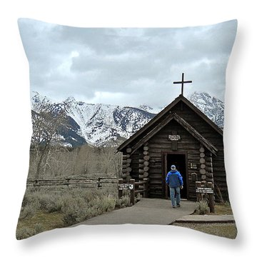 Tetons Chapel Of The Transfiguration Throw Pillow