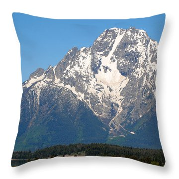 Tetons Sunrise Throw Pillow