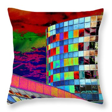 Throw Pillow featuring the photograph Tetris Clouds by Christiane Hellner-OBrien