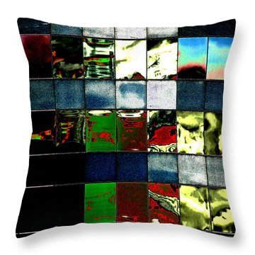 Throw Pillow featuring the photograph Tetris II by Christiane Hellner-OBrien