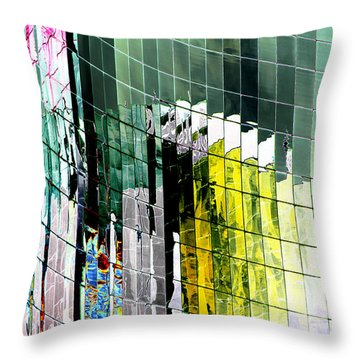 Tetris Sunset Throw Pillow