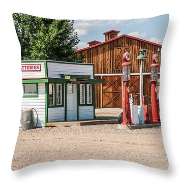 Texaco And Mack Throw Pillow by Sue Smith