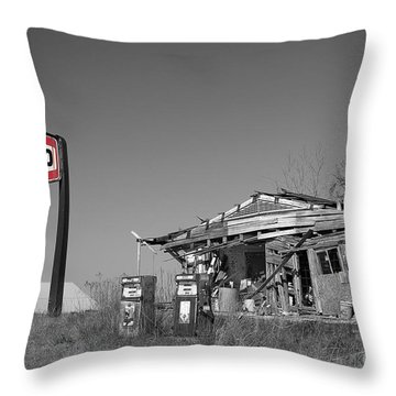 Texaco Country Store With Sign Throw Pillow