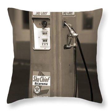 Tokheim Gas Pump 2 Throw Pillow