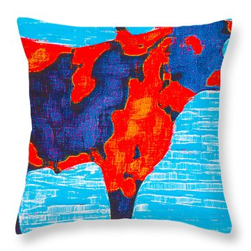 Texan Longhorn Throw Pillow by Robert Margetts