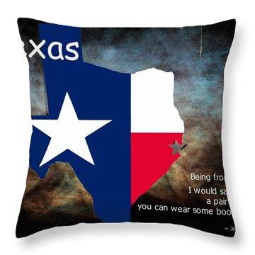 Jensen Ackles Texas Quote Throw Pillow