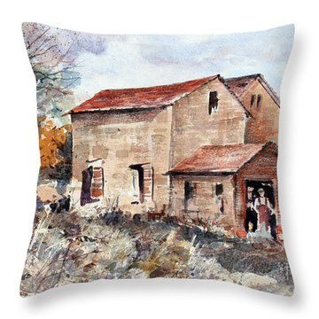Texas Barn Throw Pillow
