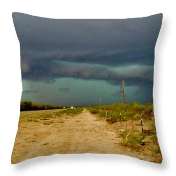 Texas Blue Thunder Throw Pillow