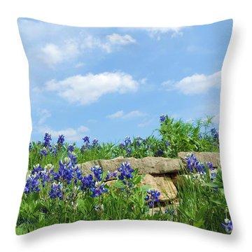 Texas Bluebonnets 08 Throw Pillow