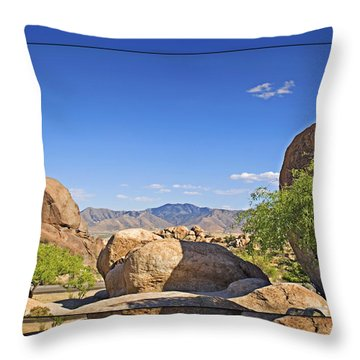 Texas Canyon 2 Throw Pillow by Walter Herrit