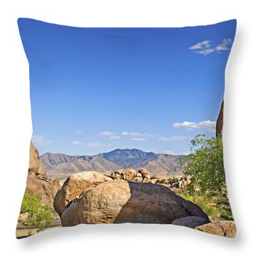 Texas Canyon Throw Pillow by Walter Herrit