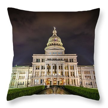 Texas Capitol Building Throw Pillow