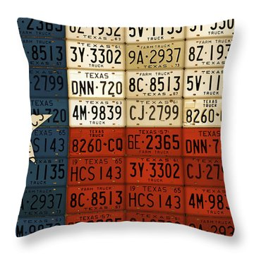 Texas Flag The Lone Star State License Plate Art Throw Pillow by Design Turnpike