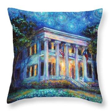 Texas Governor Mansion Painting Throw Pillow by Svetlana Novikova