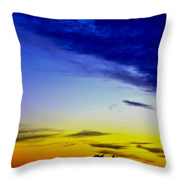 Texas Hill Country Sunset Throw Pillow