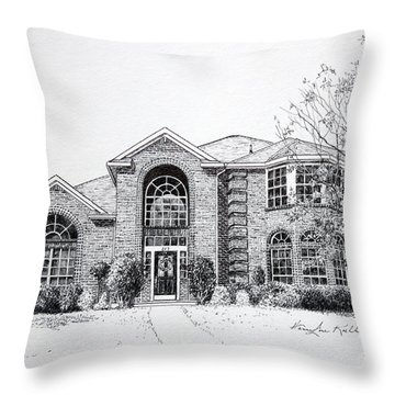 Texas Home 2 Throw Pillow by Hanne Lore Koehler