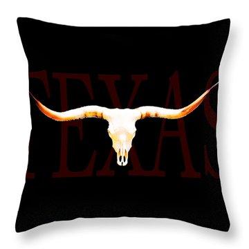 Texas Longhorns By Sharon Cummings Throw Pillow by Sharon Cummings