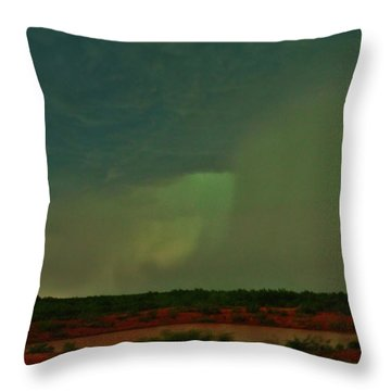 Throw Pillow featuring the photograph Texas Microburst by Ed Sweeney