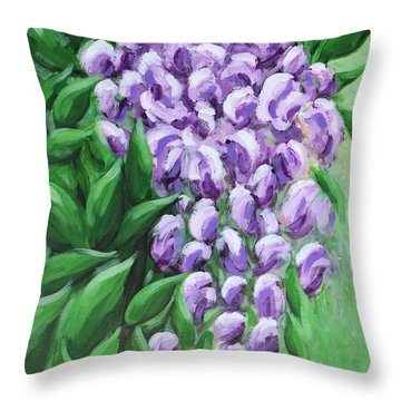 Texas Mountain Laurel Throw Pillow