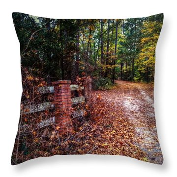 Texas Piney Woods Throw Pillow