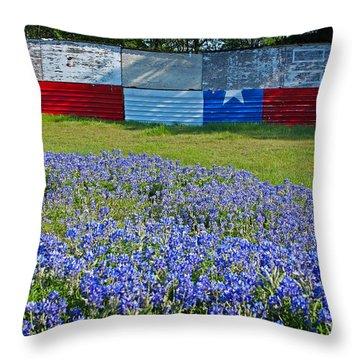 Texas Proud Throw Pillow