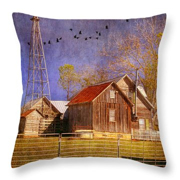 Texas Ranch Throw Pillow