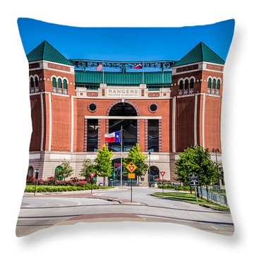 Globe Life Park In Arlington Throw Pillow