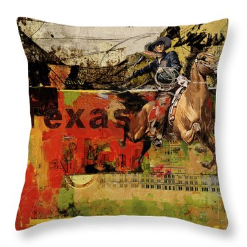 Texas Rodeo Throw Pillow
